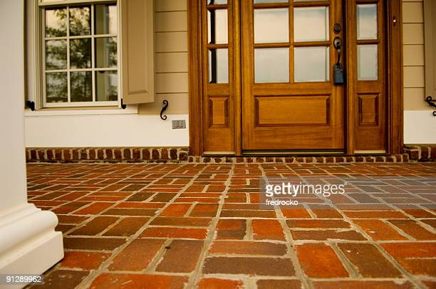Front Porch Made of Brick of a Home or House
