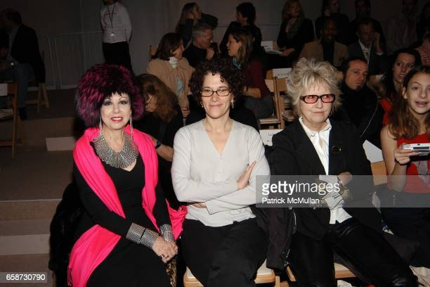 Front Row at the Alice Roi fashion show at Promenade Bryant Park on February 8 2004 in New York City