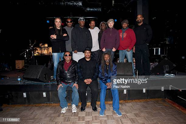 Front Row Badal Roy Nicholas Payton Robert Irving III Back Row Mino Cinelu DJ Logic Vince Wilburn Jr Munyungo Jackson Blackbyrd McKnight John Beasley...