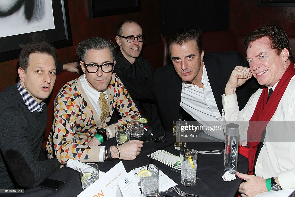 Front row Josh Charles, Alan Cumming, Chris Noth and Chris McDonald attend The Rainforest Action Network Benefit at The Cutting Room on February 17, 2013 in New York City.