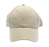 Front view a baseball cap with no emblem on a white background.
