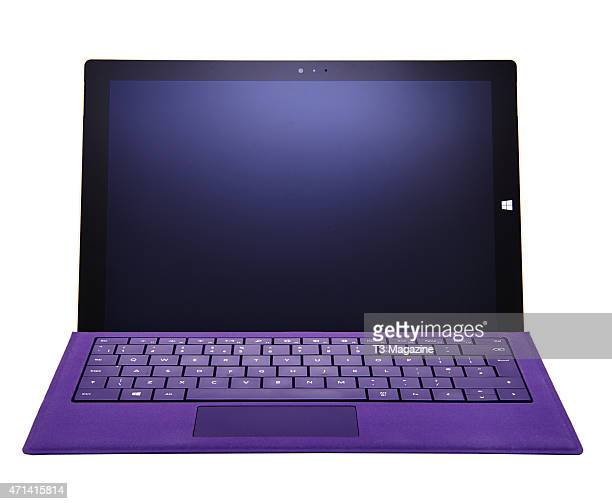 Front view of a Microsoft Surface Pro 3 tablet computer taken on August 26 2014