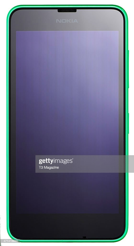 Front view of a Nokia Lumia 635 smartphone taken on August 4 2014