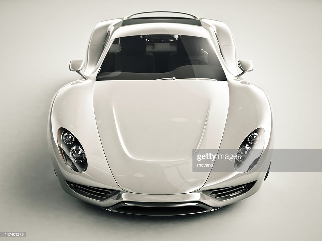 Front View of a Sports Car : Stock Photo