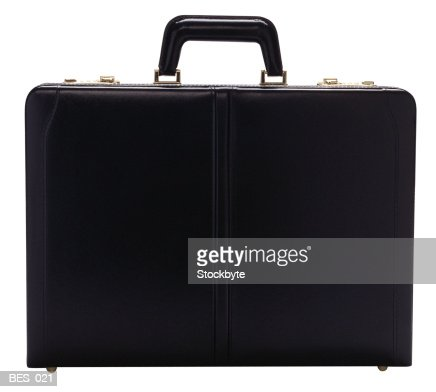 Front view of briefcase