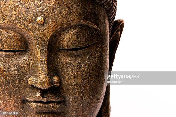 Front view of Buddha's face