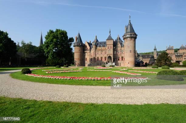 Front view of castle De Haar in the Netherlands