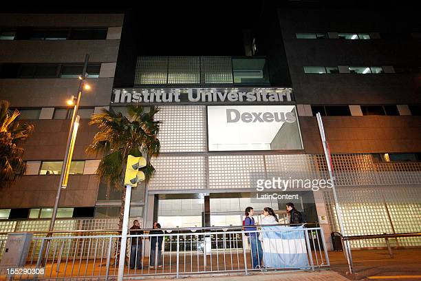 Front view of Hospital USP Dexeuswhere Thiago Messi Roccuzzo was borned on November 02 2012 in Barcelona Spain