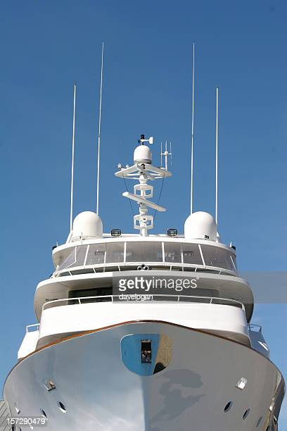 Front View of Luxury Yacht