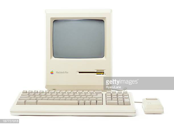 Front View of Mac Plus Computer