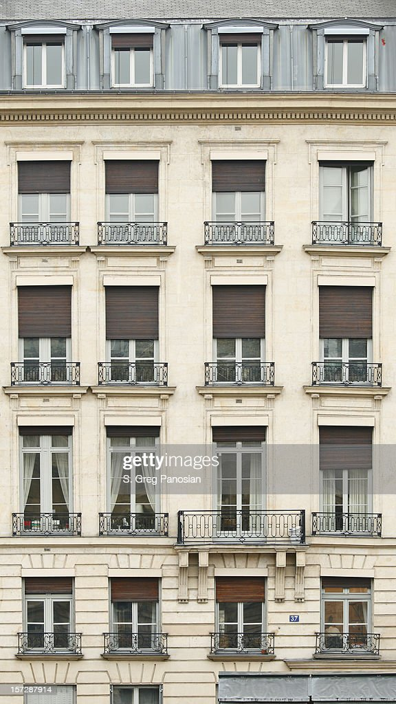 Front view of Paris architecture