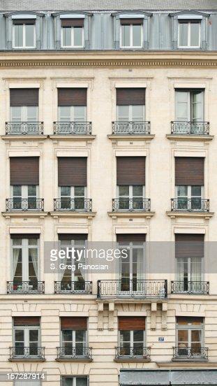 Front view of Paris architecture