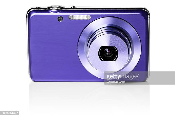 Front view of purple digital camera