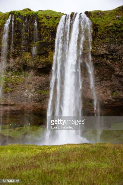 Front view of Seljalandsfoss waterfall
