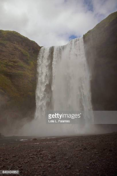 Front view of Skogafoss