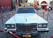 Front view of the 'Ghostbusters' Cadillac Fleetwood Station Wagon at AMC Universal City Walk on July 14 2016 in Universal City California