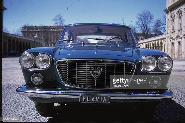 Front view of the Lancia Flavia motor car designed by Pininfarina 1962