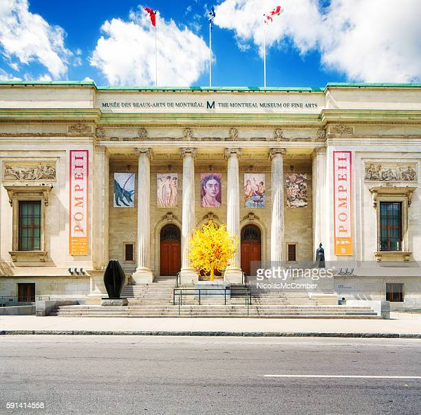 Front view of the Montreal museum of fine arts