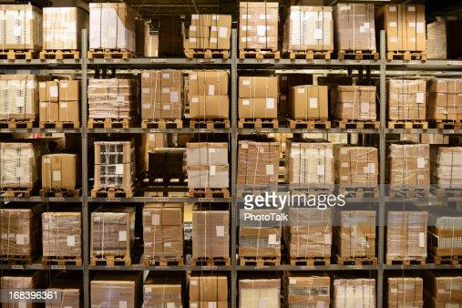 Front View of Warehouse and Cargo Shelf - XXXXXLarge