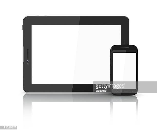 Frontal screens of tablet and mobile
