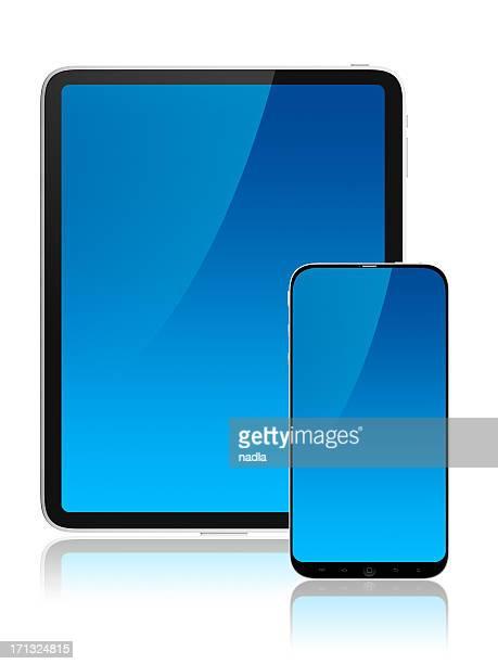 Schermi frontale di tablet e cellulare
