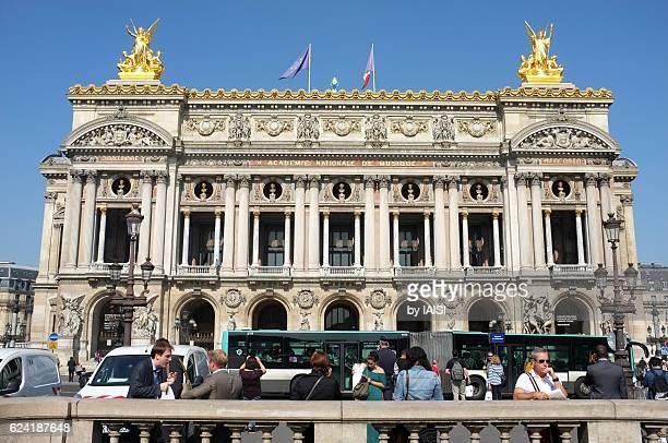 Frontal view of Opera de Paris against sky