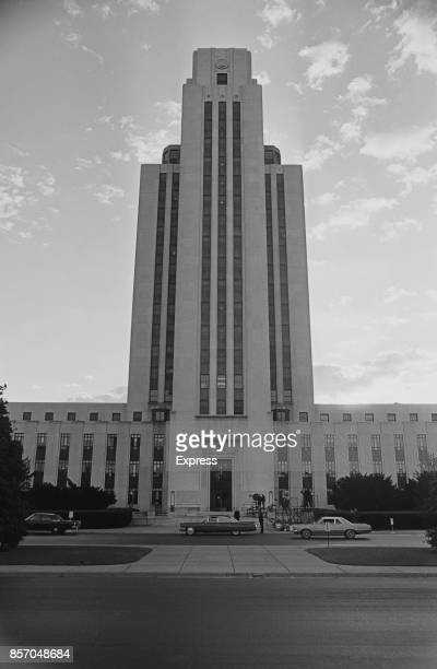 Frontal view of the Walter Reed National Military Medical Center formerly known as the 'National Naval Medical Center' Maryland United States 19th...