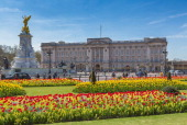 Frontal view on Buckingham Palace
