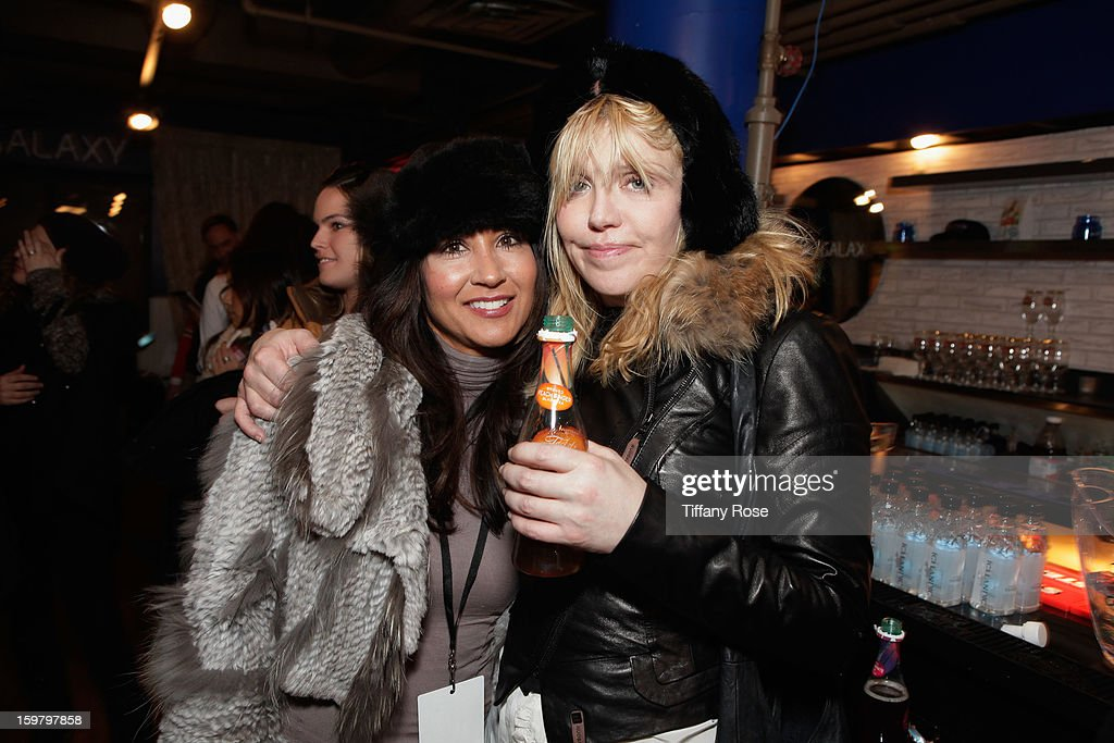 Frontera Talent Group owner Cynthia Apodaca (L) and musician Courtney Love attend Day 3 of Tea of a Kind at Village At The Lift 2013 on January 20, 2013 in Park City, Utah.