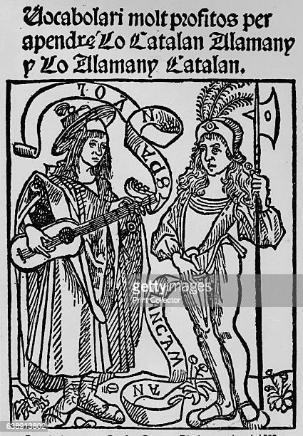Frontispiece to a CatalanGerman Dictionary dated 1502' Catalan German dictionary dated 1502 The script reads 'A very profitable dictionary for...