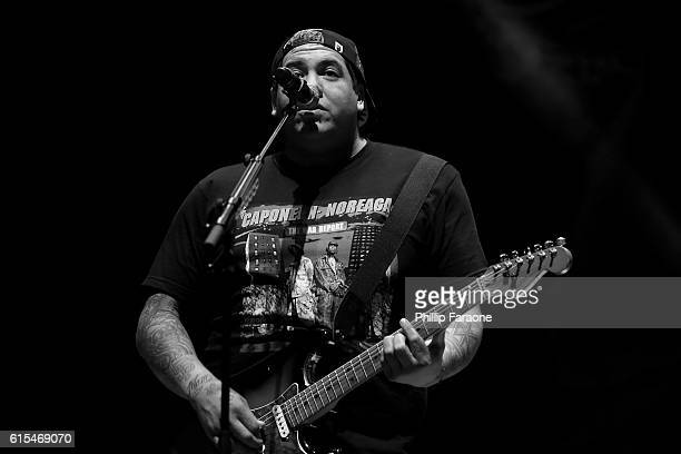 Frontman Rome Ramirez of Sublime with Rome performs at Irvine Meadows Amphitheatre on October 15 2016 in Irvine California