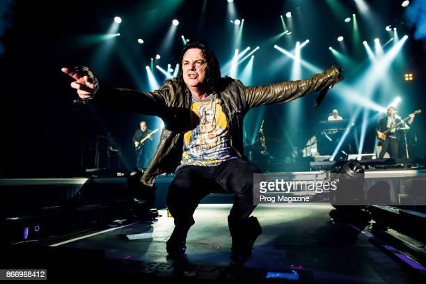 Frontman Steve Hogarth of British progressive rock group Marillion performing live on stage at Port Zelande Center Parcs in South Holland as part of...