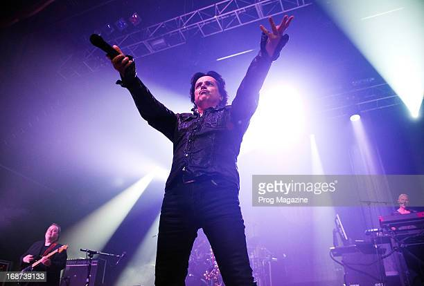 Frontman Steve Hogarth of English progressive rock group Marillion performing live on stage at The Forum in London during the Sounds That Can't Be...