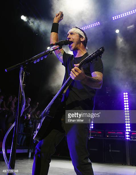 Frontman Sully Erna of Godsmack performs at The Pearl concert theater at Palms Casino Resort on November 14 2015 in Las Vegas Nevada