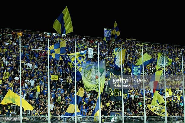Frosinone Calcio fans during the Serie A match between Frosinone Calcio and Torino FC at Stadio Matusa on August 23 2015 in Frosinone Italy