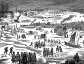 Frost Fair on the Thames at London 1683 Winters in Britain were often particularly cold in the 17th and 18th centuries a period known as the 'Little...