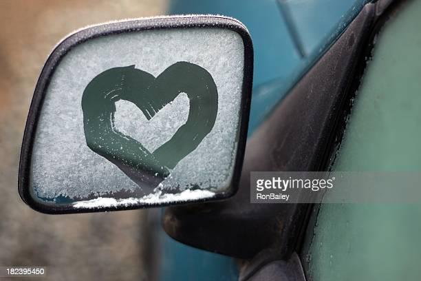Frost Herz Auto Spiegel