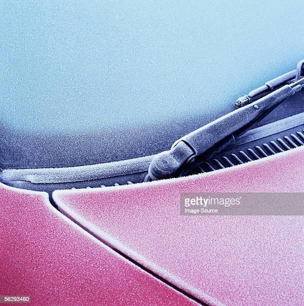 Frost on car windscreen