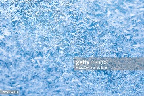 Frost on window. : Stock Photo