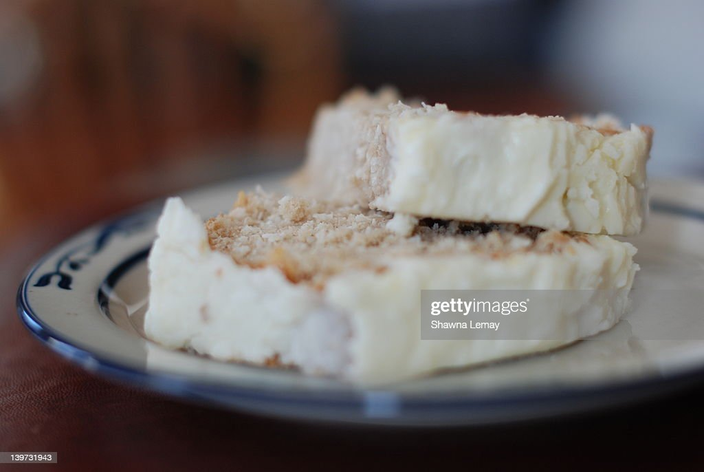 Frosted coconut cake : Stock Photo