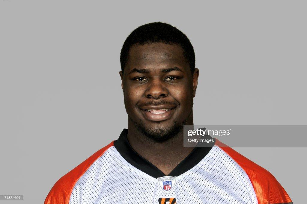 Frostee Rucker of the Cincinnati Bengals poses for his 2006 NFL headshot at photo day in Cincinnati, Ohio.