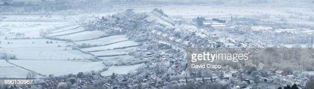 Frosty morning, Glastonbury, Somerset