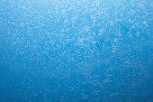 Frosty pattern on the glass.
