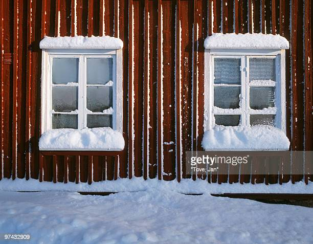 Frosty windows, Sweden.