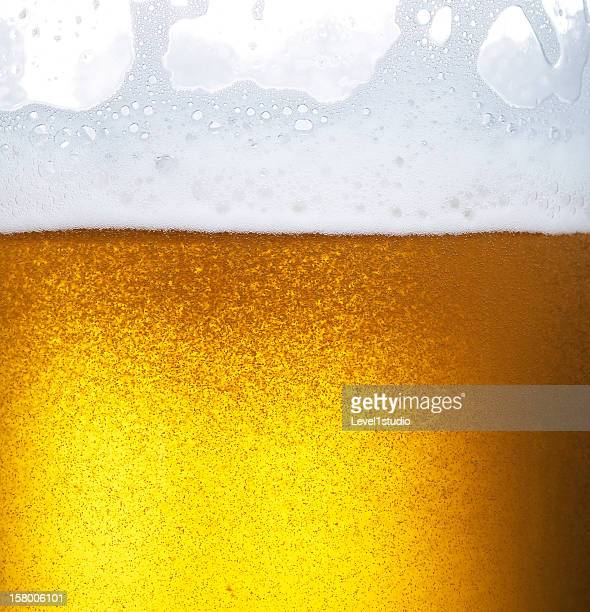 Froth on beer