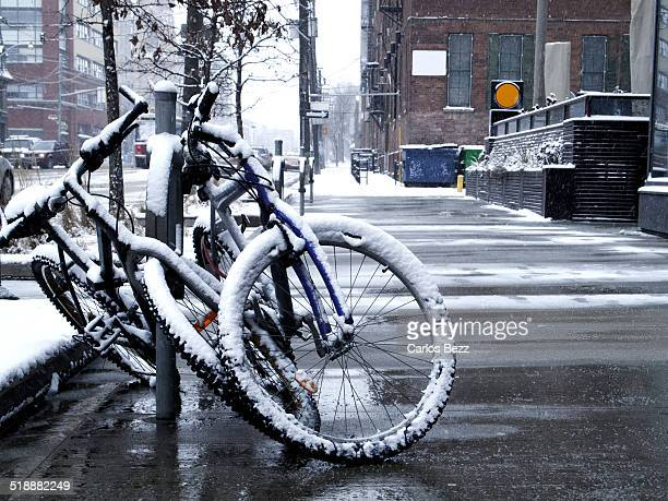 frozen bicycles