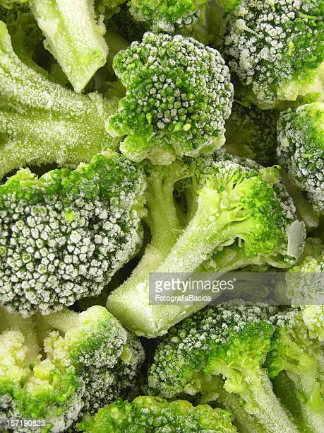 Frozen broccoli background