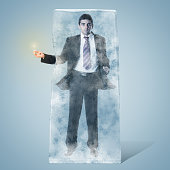 Frozen Businessman
