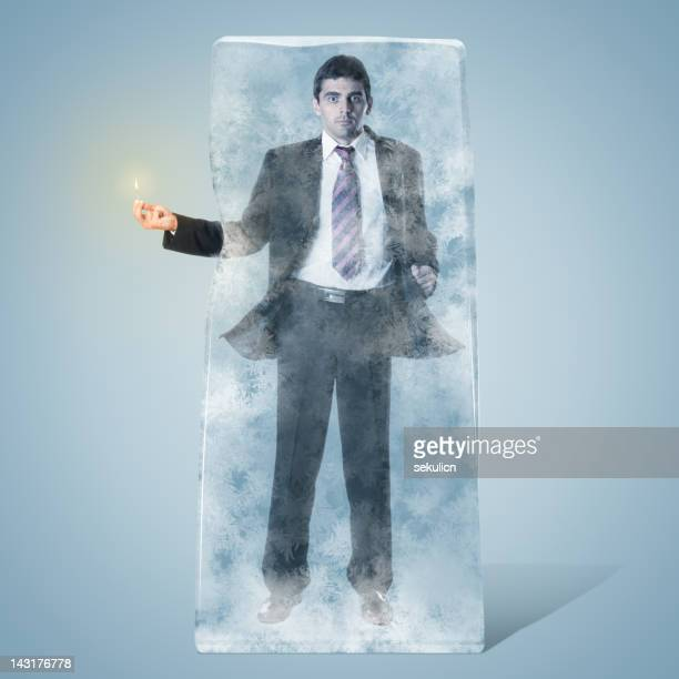 Frozen Businessman