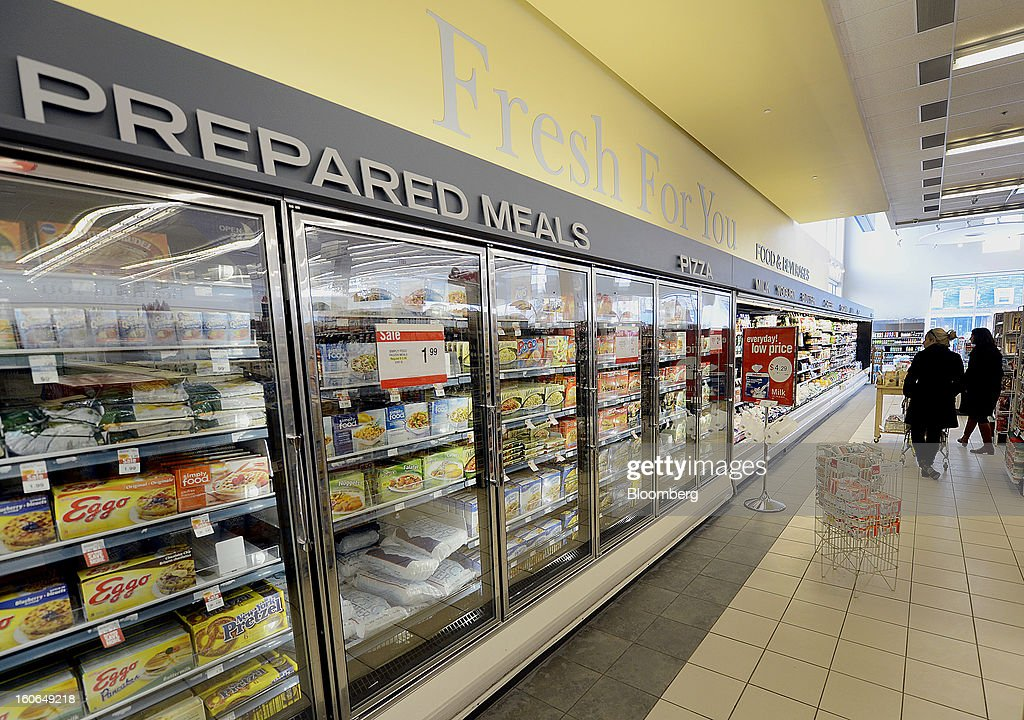 Frozen food is displayed for sale at a Shoppers Drug Mart Corp. store in Toronto, Ontario, Canada, on Monday, Feb. 4, 2013. Shoppers Drug Mart Corp., Canada's largest pharmacy chain, is scheduled to release earnings data on Feb. 7. Photographer: Aaron Harris/Bloomberg via Getty Images